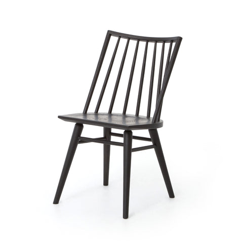 black stained modern windsor dining chair no arms
