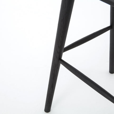 Black windsor bar and counter chair