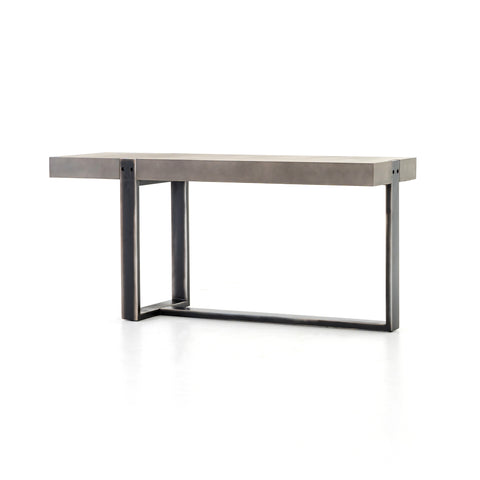 Concrete and Iron Console Table