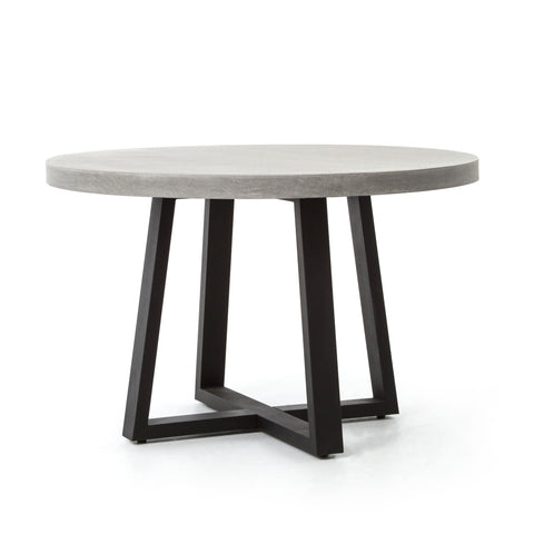 48 inch Round Dining Table in Iron and Resin - Hamptons Furniture, Gifts, Modern & Traditional