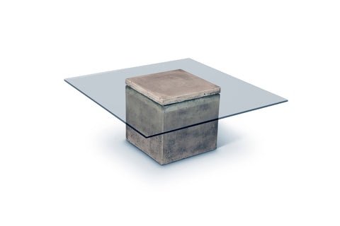 Concrete & Glass Cocktail Table - Hamptons Furniture, Gifts, Modern & Traditional
