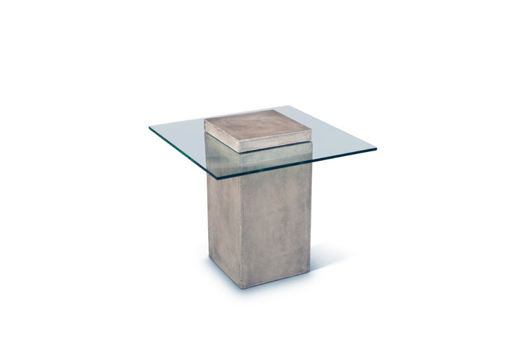 Concrete & Glass Side Table