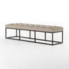 Tufted accent bench