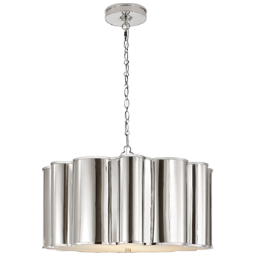 Markos Large Hanging Shade in Polished Nickel