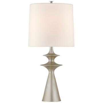 Lakmos Large Table Lamp in Gild with Linen Shade
