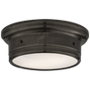 Siena Small Flush Mount in Bronze with White Glass
