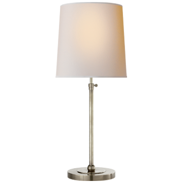 Bryant Large Table Lamp in Polished Nickel with Natural Paper Shade