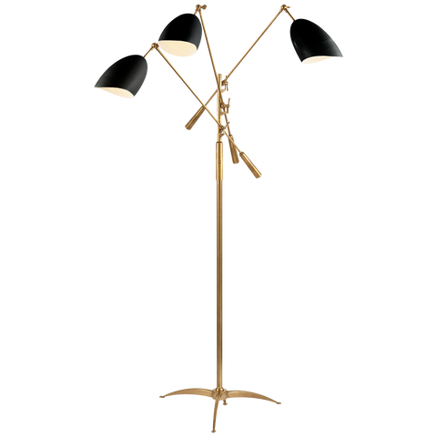 Triple Arm Adjustable Floor Lamp