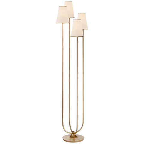 Metal Floor Lamp with 4 Stems