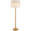 Floor Lamp in Plaster White with Linen Shade - Hamptons Furniture, Gifts, Modern & Traditional