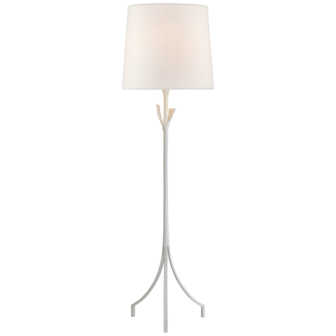 Fliana Floor Lamp in Gild with Linen Shade