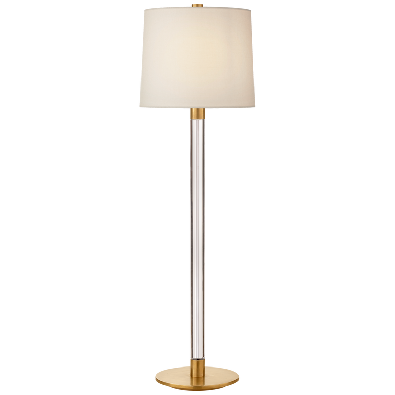 Riga Buffet Lamp in Crystal with Linen Shade