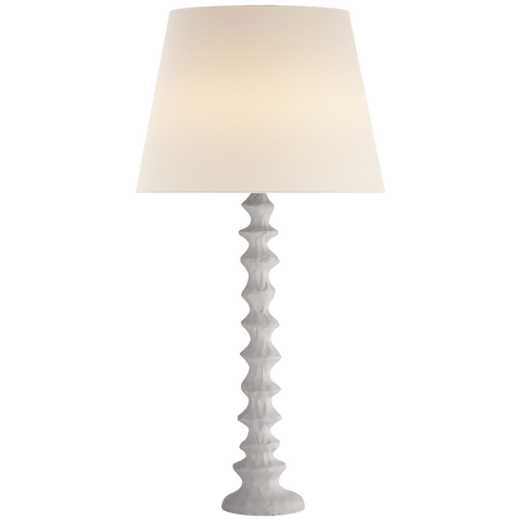 Table Lamp in Plaster White with Linen Shade