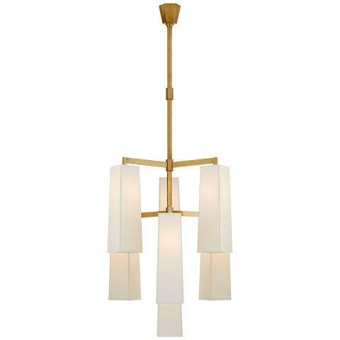Dramatic Modern Chandelier with Elongated Shades