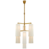 Dramatic Modern Chandelier with Elongated Shades - Hamptons Furniture, Gifts, Modern & Traditional