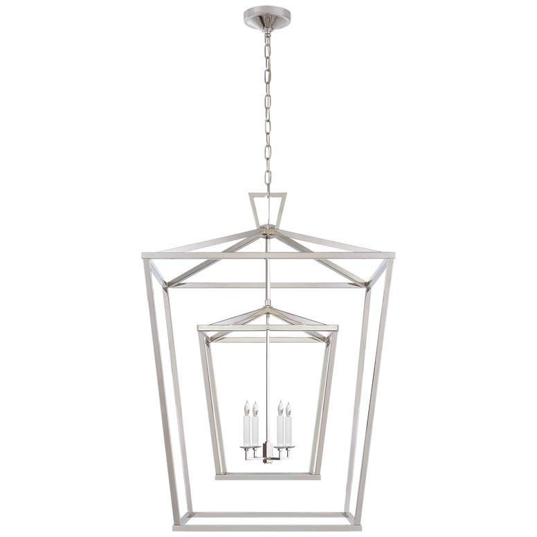Extra Large Double Cage Lantern - Hamptons Furniture, Gifts, Modern & Traditional