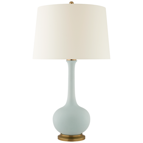 Large Table Lamp in Matte Sky Blue