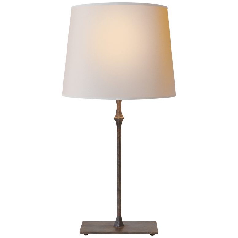 bedside Lamp in Aged iron - Hamptons Furniture, Gifts, Modern & Traditional