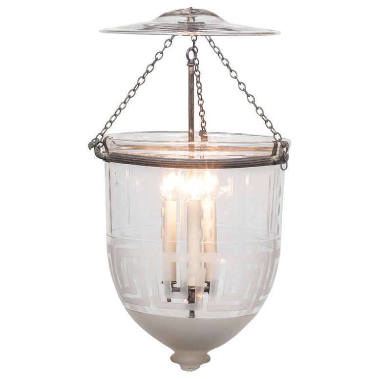 Lantern & Bell Jar with Pattern - Hamptons Furniture, Gifts, Modern & Traditional