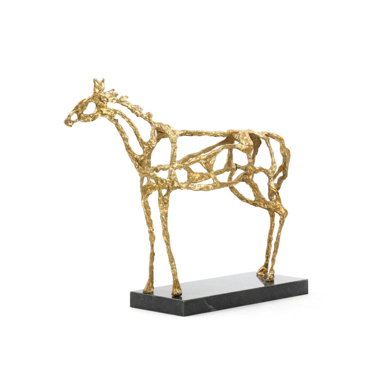 Gold Leaf Horse Statue