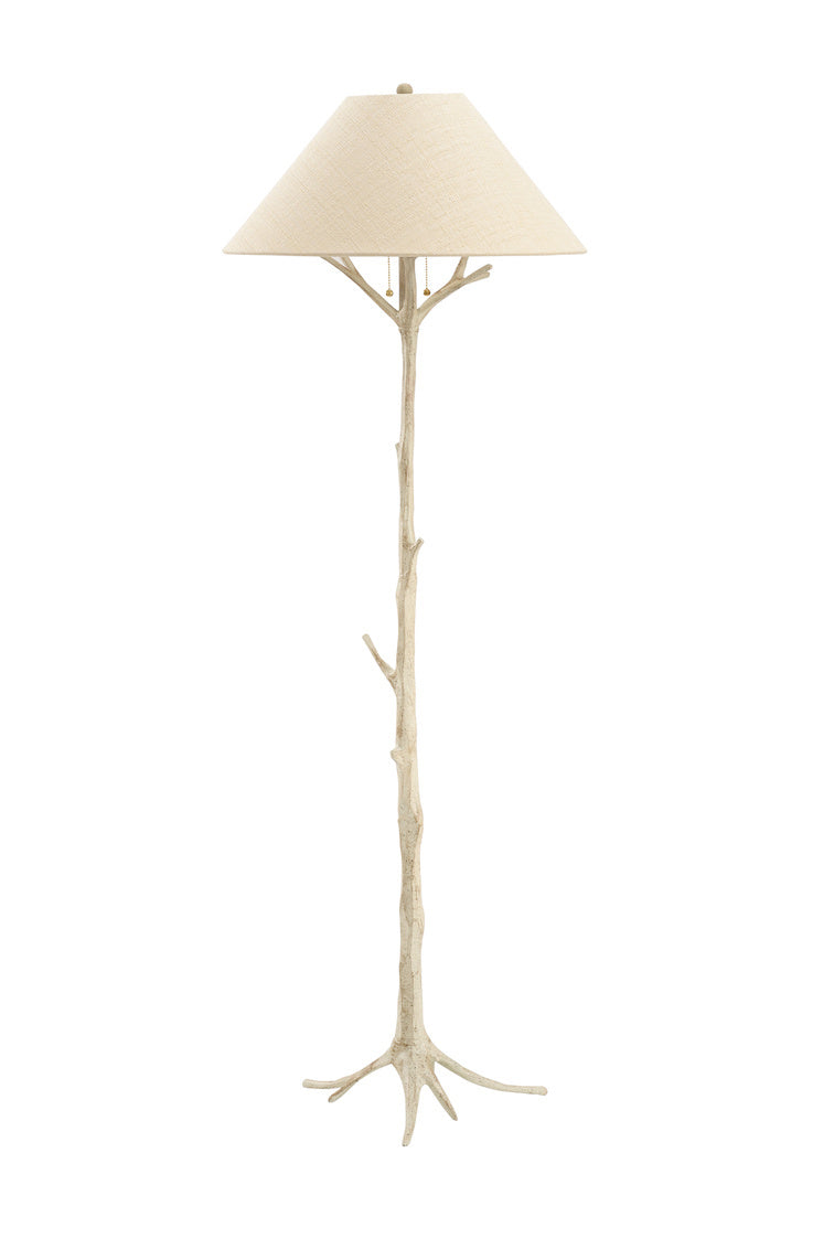 Floor Lamp in Faux Bois Style - Hamptons Furniture, Gifts, Modern & Traditional