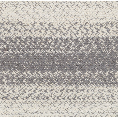 100 % Jute Area Rug in Grey and Ivory