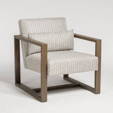 Modern Armchair in Twill Fabric