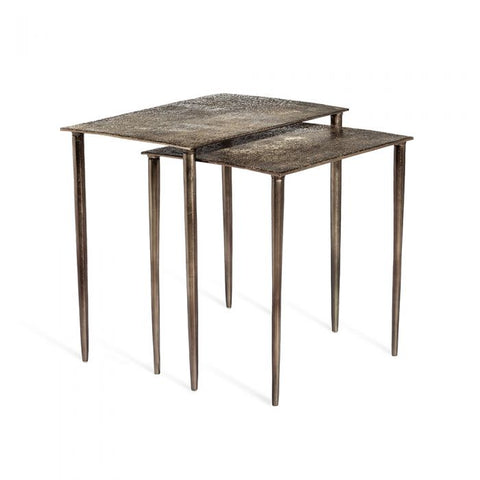 Nesting Side Table in Nickel Finish