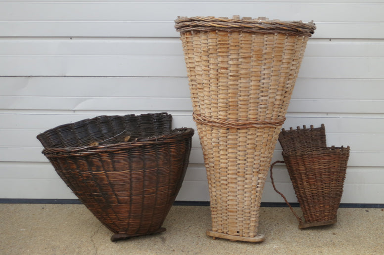 Vintage Grape Collecting  Baskets - Hamptons Furniture, Gifts, Modern & Traditional