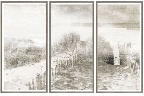 Beach Path Triptych - Hamptons Furniture, Gifts, Modern & Traditional