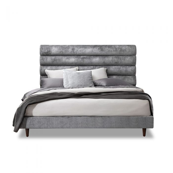 Channeled Upholstered Bed