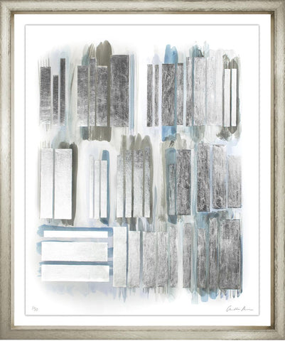 Silver Leaf Library Book Print