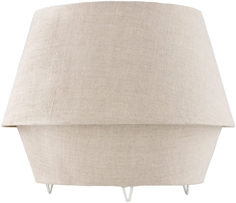 Small Full Fabric Table Lamp in Linen