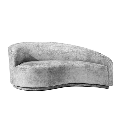 Left Arm Chaise in Grey