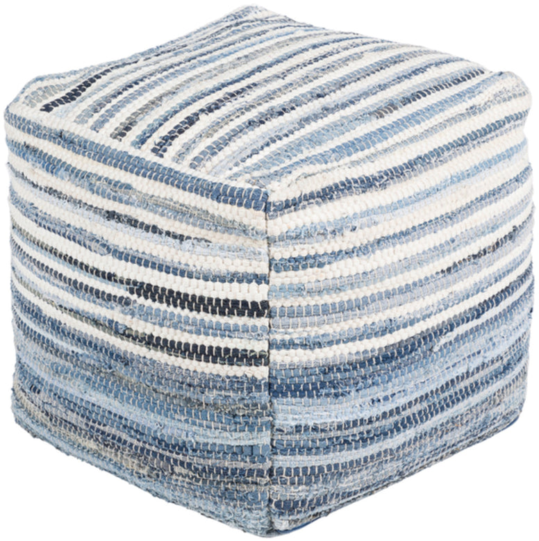 Rag Rug Pouf - Hamptons Furniture, Gifts, Modern & Traditional