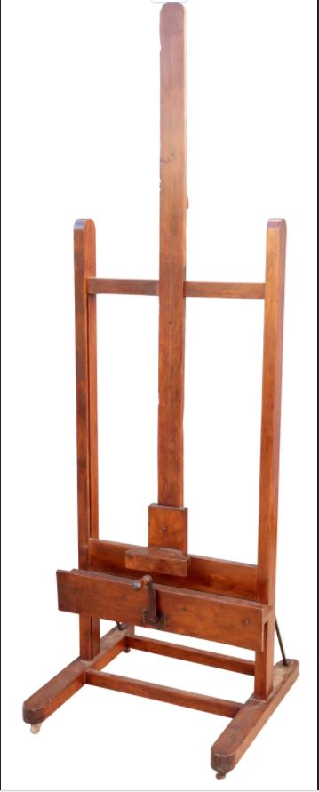 Large Antique Artists Easel