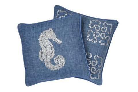 Linen Throw Pillows with Swarovski Crystals