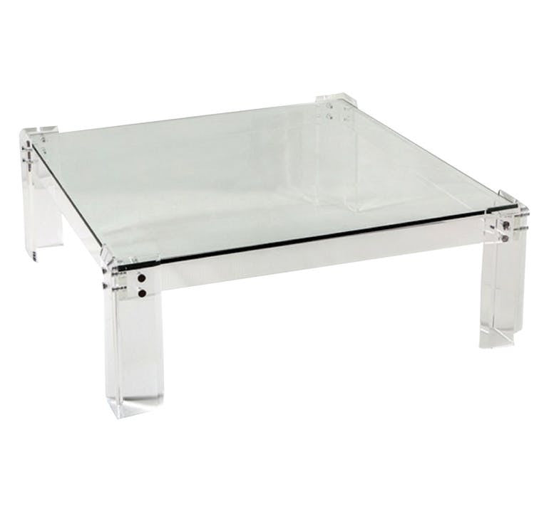 Acrylic & Glass Square Coffee Table