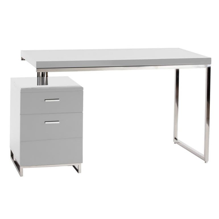 Contemporary design desk with filing cabinet - Hamptons Furniture, Gifts, Modern & Traditional