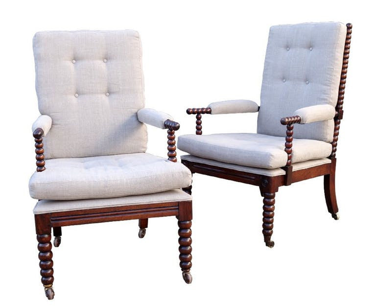Pair English Bobbin Chairs C 1900 English Country Home