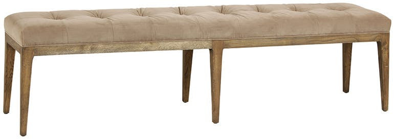 Upholstered Bench with Oak Frame – English Country Home