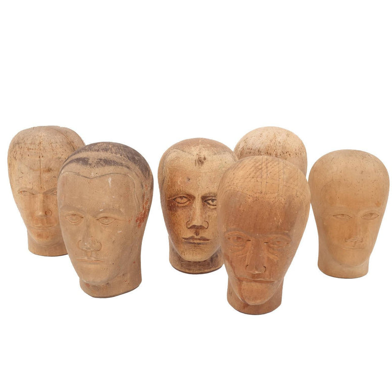 Belgian Wig and Hat Moulds - Hamptons Furniture, Gifts, Modern & Traditional