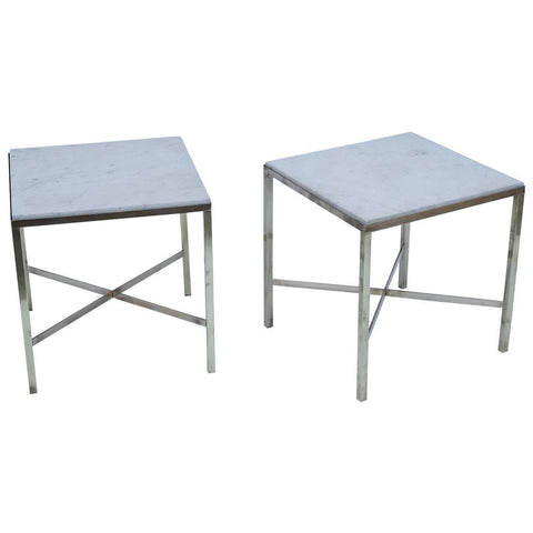 Pair of Brass and Marble Tables - Hamptons Furniture, Gifts, Modern & Traditional