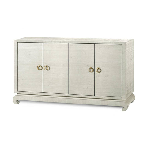 Lacquered Grasscloth Sideboard, Multiple Finishes