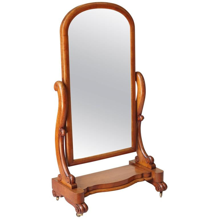 Victorian Floor Standing Mirror – English Country Home