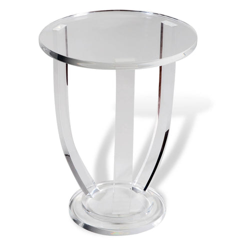 Round Acrylic Side Table - Hamptons Furniture, Gifts, Modern & Traditional