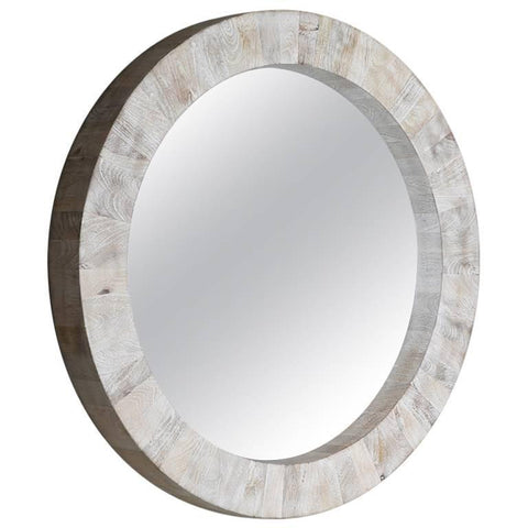 Circular Mango Wood Wall Mirror