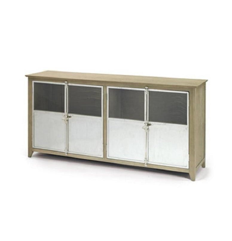 Wood and Stainless Steel Sideboard - Hamptons Furniture, Gifts, Modern & Traditional