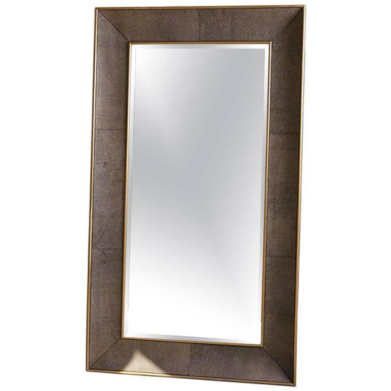 Faux Shagreen Floor Mirror