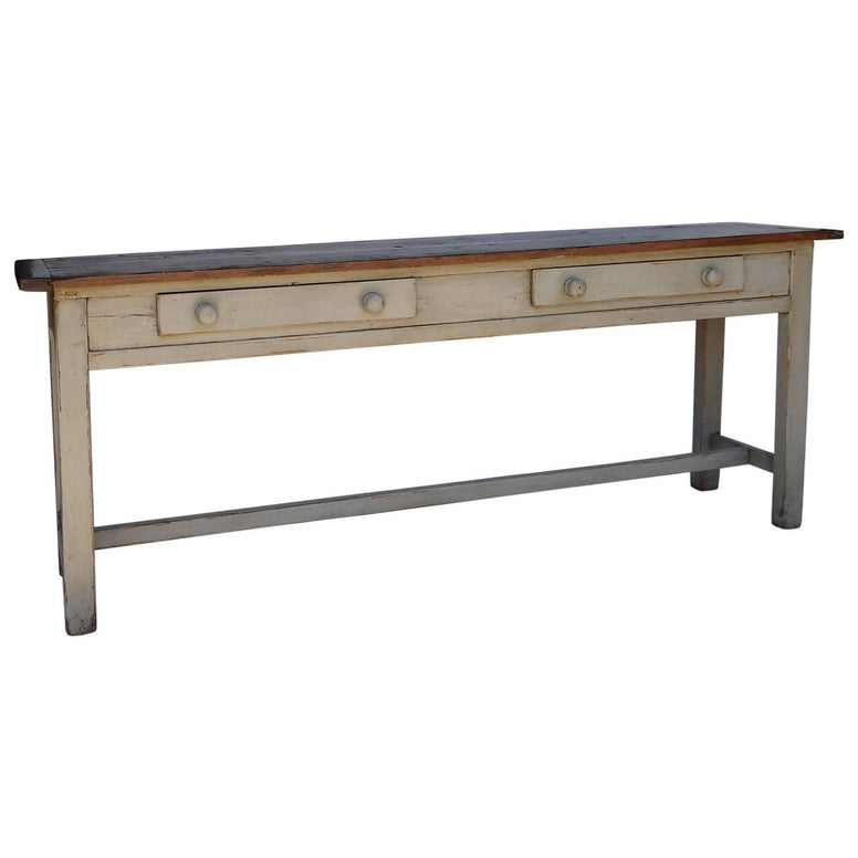 Long Painted Serving Table